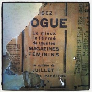 Ajakirja VOGUE reklaam hilistest kahekümnendatest